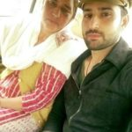 Pradeep Duhan with his mother