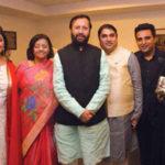 Prakash Javadekar With His Family