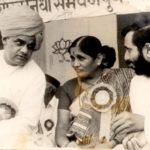 Prakash Javadekar Working With the Former Indian Prime Minister Atal Bihari Vajpayee