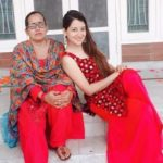 Priyanka Kandwal with her mother