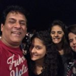 Rajendra Chawla with his wife and daughters