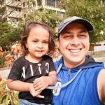 Rakesh Kukreti with his son