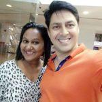 Rakesh Kukreti with his wife