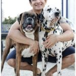 Ranveer Allahbadia with two of his dogs