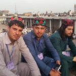Red And Black Hat Worn By Pashtun Community People