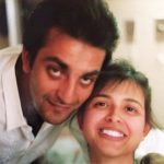 Richa Sharma and Sanjay Dutt