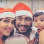 Rimi Tomy's Brother Rinku Tomy With His Wife Muktha And Daughter