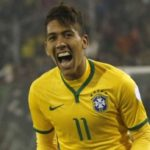 Roberto Firmino playing for Brazil