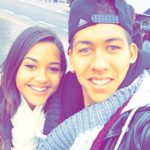 Roberto Firmino with his sister
