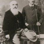 Rudyard Kipling With His Father John Lockwood Kipling