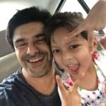 Samir Soni with his daughter