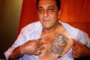 Sanjay Dutt Chest Tattoo