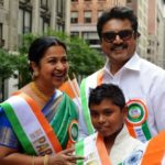 Sarath Kumar With His Wife And Son