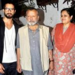 Shahid Kapoor With His Father And Step-Mother