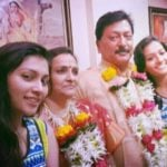 Shakti Singh with his wife and daughters