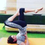 Sheeba Akashdeep doing Yoga