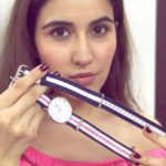 Sheena Bajaj showing her Daniel Wellington watch