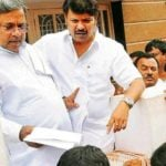 Siddaramaiah With His Son Rakesh