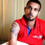 Siddarth Kaul right shoulder tattoo