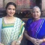 Sukanya with her mother