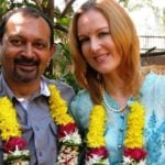 Suzanne Bernert with her husband Akhil Mishra