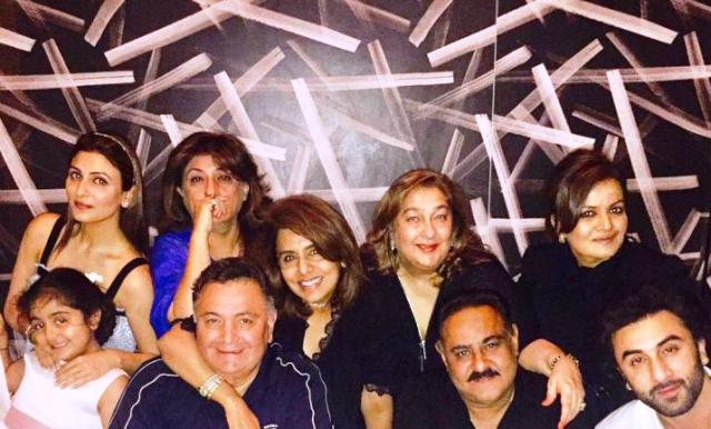Rishi Kapoor With His Sisters
