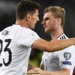 Timo Werner with his childhood idol Mario Gomez