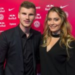 Timo Werner with his girlfriend Julia Nagler