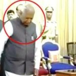 Vajubhai Vala walked off during national anthem