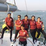 Vartika Joshi And Her Crew Members On INSV Tarini