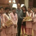 Vidhi Deshwal Receiving Bharat Gaurav Award