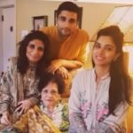 Zainab Abbas With Her Grandmother, Mother and Brother