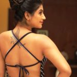 A Unicorn Tattoo On Yashika Anand's Back