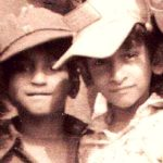 Ajay Gogavala with his brother in his childhood