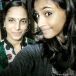 Anukreethy Vas with her mother