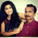 Anupama Parameswaran with her father Parameswaran