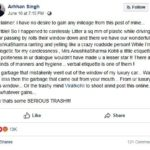 Arhhan Singh's facebook post after street fight with Anushka Sharma