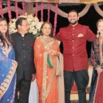Arunoday Singh With His Sister, Father, Mother, Wife (Left To Right)