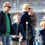 Cate Blanchett with her husband and children