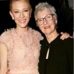 Cate Blanchett with her mother
