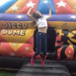 Courtney Hadwin On A Bouncy Castle