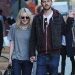 Dakota Fanning with Jamie Strachan