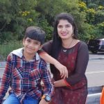 Deepti Nallamothu with her son