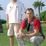 Denis Cheryshev with his father