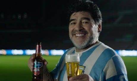 Diego Maradona drinking alcohol