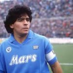 Diego Maradona playing for Napoli