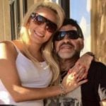 Diego Maradona with his ex-girlfriend Rocio Oliva