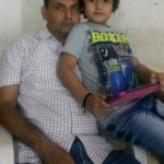 Eklavya Ahir with his father