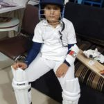 Eklavya Ahir in the cricket costumes