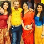 Gayathri Suresh with her parents and sister Kalyani Suresh